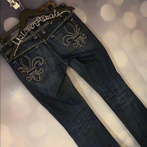 Authentic Miss Me jeans size 30 denim ladies euc